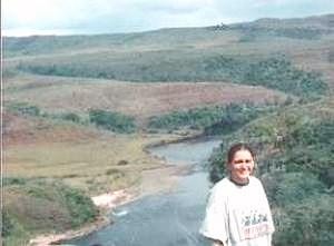 Bonnie Bond on top of  Aponguao Waterfall